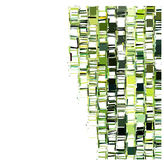 Green fragmented abstract pattern over white Stock Images