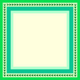 Green frame. For greeting card with leaves Royalty Free Stock Photo