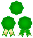 Green frame. Tags with a simple green ribbon Stock Illustration