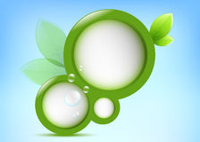 Green Frame. Abstract green frame with leaves and water bubbles royalty free illustration