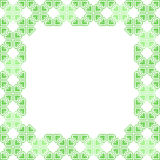 Green frame with abstract patterns stock illustration