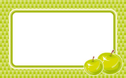 Green frame with apple. Royalty Free Stock Photography