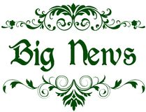 Green frame with BIG NEWS text. Royalty Free Stock Images