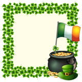A green frame border with the flag of Ireland Royalty Free Stock Photography
