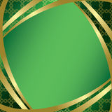Green frame with center gradient - vector Stock Photography