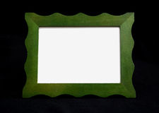Green Frame Chalkboard on black with copy space Royalty Free Stock Photography