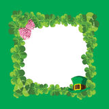 Green frame of the clover Royalty Free Stock Images