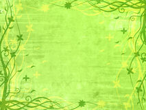Green frame with floral patterns Royalty Free Stock Photo