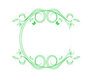 Green frame with flowers Royalty Free Stock Photography