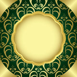 Green frame with golden center - vector Royalty Free Stock Photography