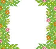 Green frame leaf flower  Stock Photography