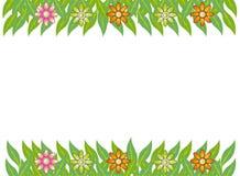 Green frame leaf flower  Royalty Free Stock Photos