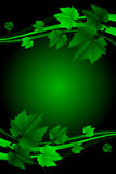 Green frame with leaves Stock Photography