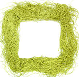 Green frame made from strings Royalty Free Stock Photo