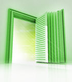 Green frame with open book as positive way Stock Photography