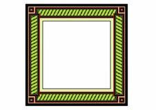 Green frame. Vector illustration of a fantasy frame, EPS 10 file Stock Images