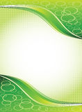 Green frame with waves Royalty Free Stock Photography