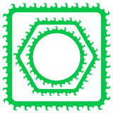 Green Frames Stock Photography
