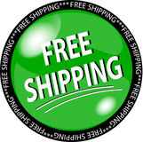 Green free shipping button Stock Photo
