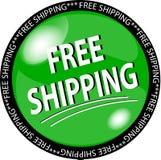 Green Free Shipping Button Stock Photo