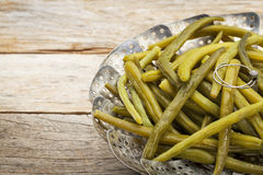 Green (French) beans steamed Royalty Free Stock Image