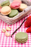 Green french macaron Stock Photography