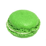 Green french macaroons. Tasty colorful macaroon. Dessert Royalty Free Stock Photos