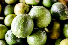 green fresh Brazilian lemons stock photo