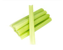 Green fresh celery. Stick isolated on white.  Royalty Free Stock Photography