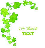 Green fresh clover border Stock Images