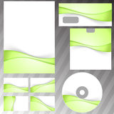 Green fresh eco swoosh stationery set Royalty Free Stock Photography