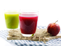 Green fresh healthy juice with fruits and vegetables Royalty Free Stock Photography