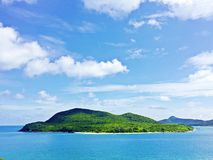Green fresh island. Thailand green island under blue sky in sunny day Stock Photo