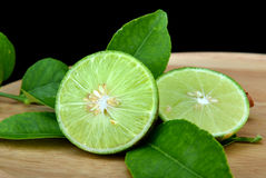 Green and fresh lemon Royalty Free Stock Images