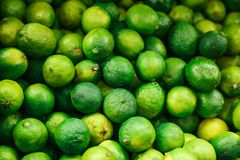 Green fresh lime background. Natural local products on the farm market. Harvesting. Seasonal products. Food royalty free stock images