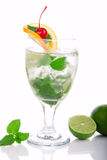 Green Fresh Mojito cocktail with light rum Stock Photo