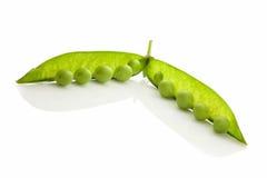 Green fresh pea over white. royalty free stock photos