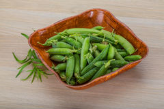Green fresh peas Stock Images
