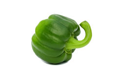 Green fresh pepper isolated on a white background. Green fresh pepper isolated on a white Stock Photos