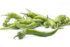 Green fresh peppers Royalty Free Stock Photos
