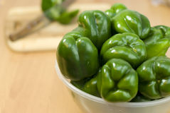 Green fresh peppers Royalty Free Stock Photo