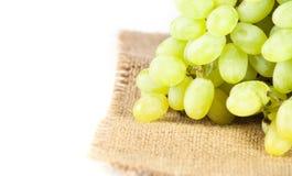 Green fresh ripe grapes Royalty Free Stock Photos