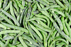 Green fresh soybeans on wood background Royalty Free Stock Photos