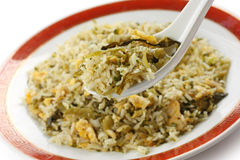 Green fried rice Stock Photo