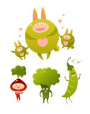 Green friends Stock Images