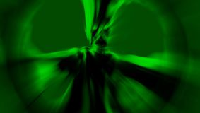 Green frightening demon stands in a ray of light. 3D illustration. Stock Photography