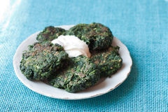 Green fritters Royalty Free Stock Photo