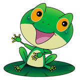 Green Frog. Talking to the reader Royalty Free Stock Photography