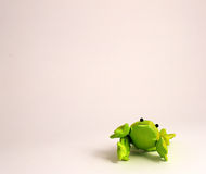 Green Frog. Green frog on a white background Royalty Free Stock Photography