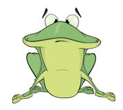 A green frog. Cartoon Stock Photos